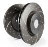 Juego discos de freno traseros rayados y semiperforados 258mm EBC GD